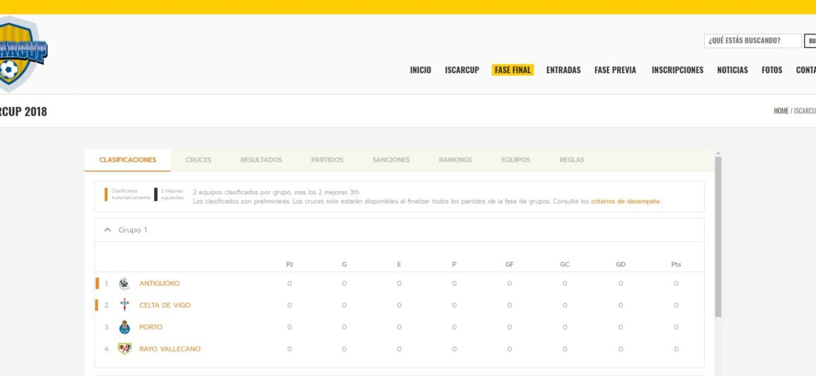 Sigue el desarrollo de la Iscar Cup 2018 al instante a través de nuestra web